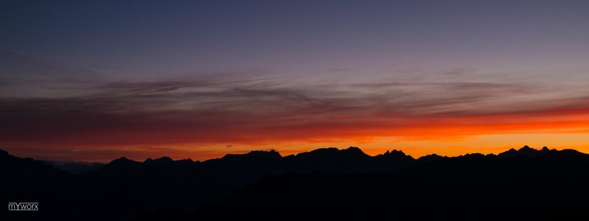Sonnenaufgang - Jakobshorn - Davos - August 2014